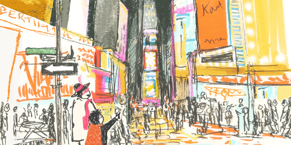 *sketch from my upcoming book, Nana in the City