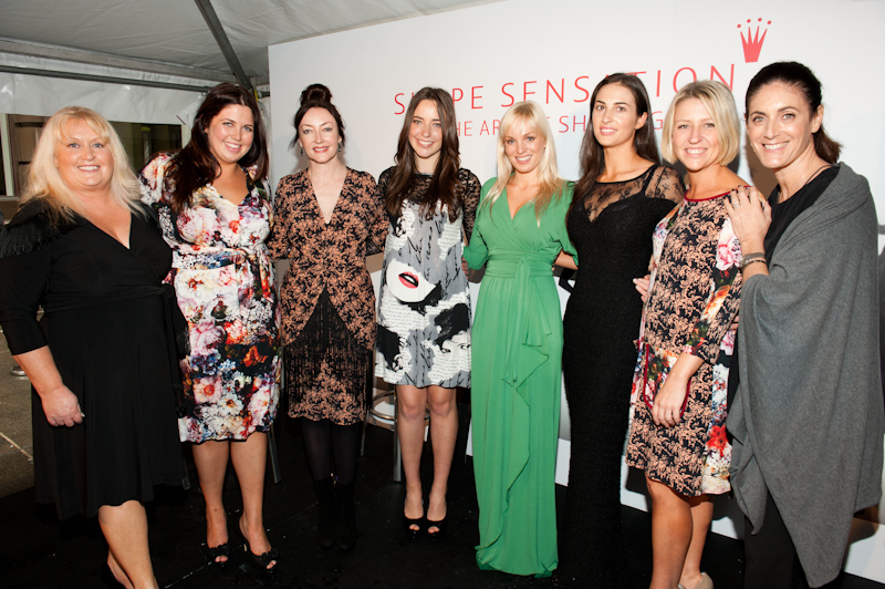 Anna (4th from right, green dress) at The Triumph Shape Sensations Awards, Photograph by Marie Claire.