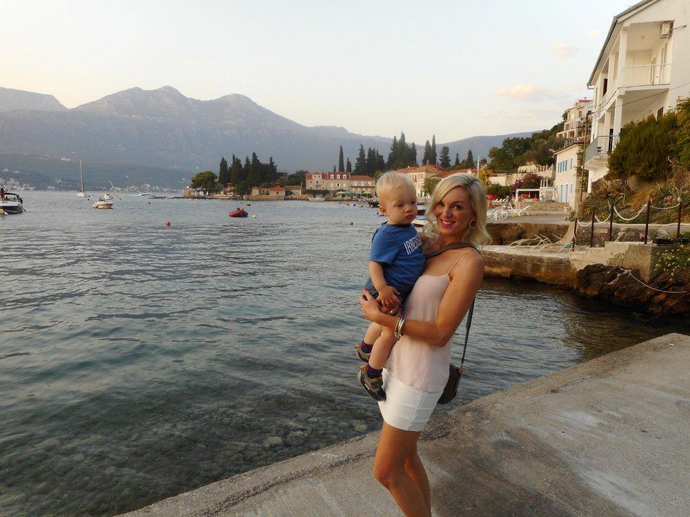 Hugo and I in Rose, Montenegro