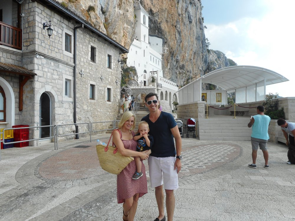 Visiting Ostrog Monastery... The drive up the mountain is not for the faint hearted!