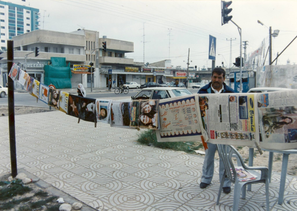 Windows copies on sale (for 1/2 nis)  in the main street of Gaza (1997)