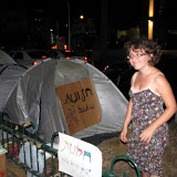 Windows' tent and a graduate. 2011 summer protests in Tel Aviv-Jaffa for social justice.