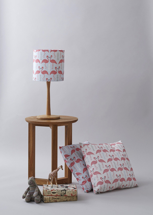 Lamp shades rosa clara designs rosa and clara designs flamingo flourish ice blue lampshade and cushion aloadofball Choice Image