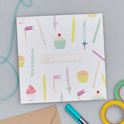 Rosa And Clara Designs Foiled Birthday Candles Card