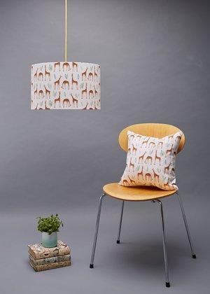 Lamp shades rosa clara designs rosa and clara designs giraffes medium lampshade and cushiong aloadofball Choice Image