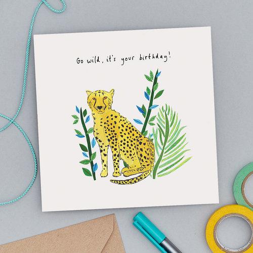 Rosa And Clara Designs Go Wild Birthday Candles Card