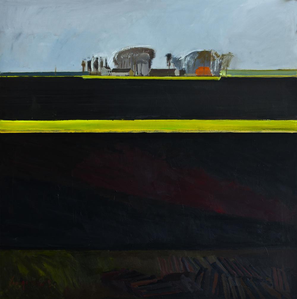 Bourne Farm, Methwold Fen on a grey day in the Black fens
