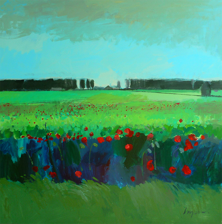 Poppies & sugar beet, Feltwell Anchor. August 2015