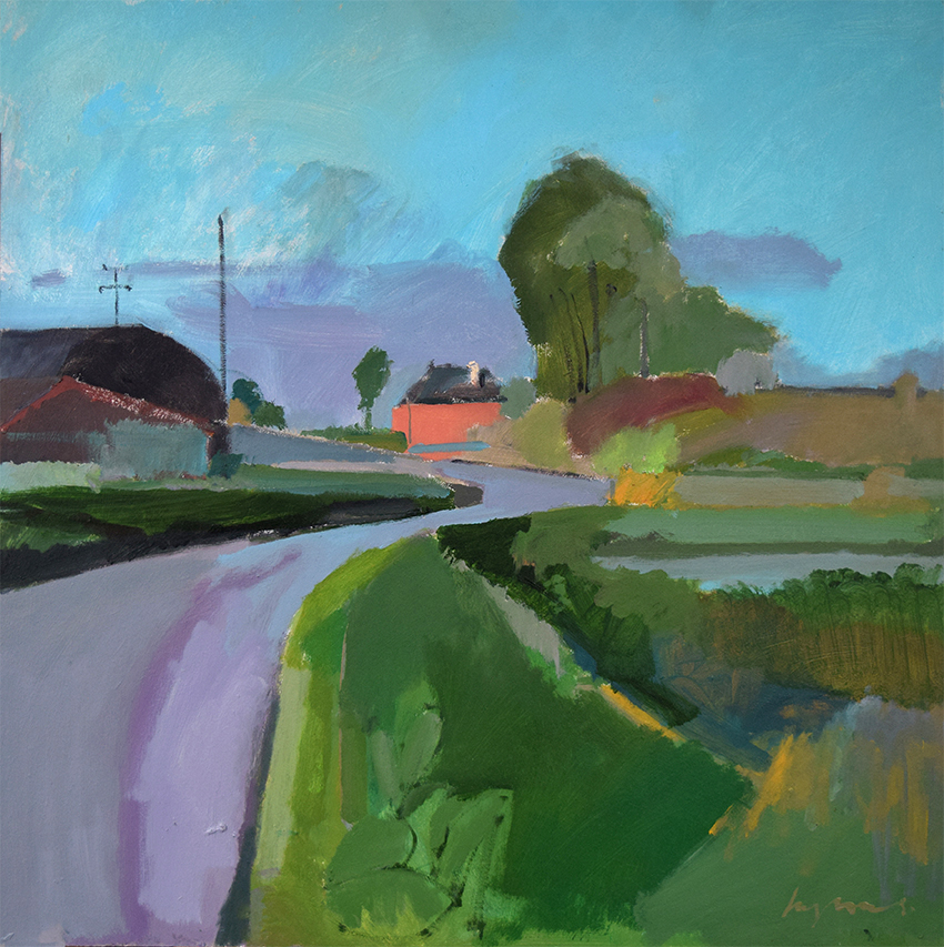 Poppylot Farm, Black Drove, Autumn evening