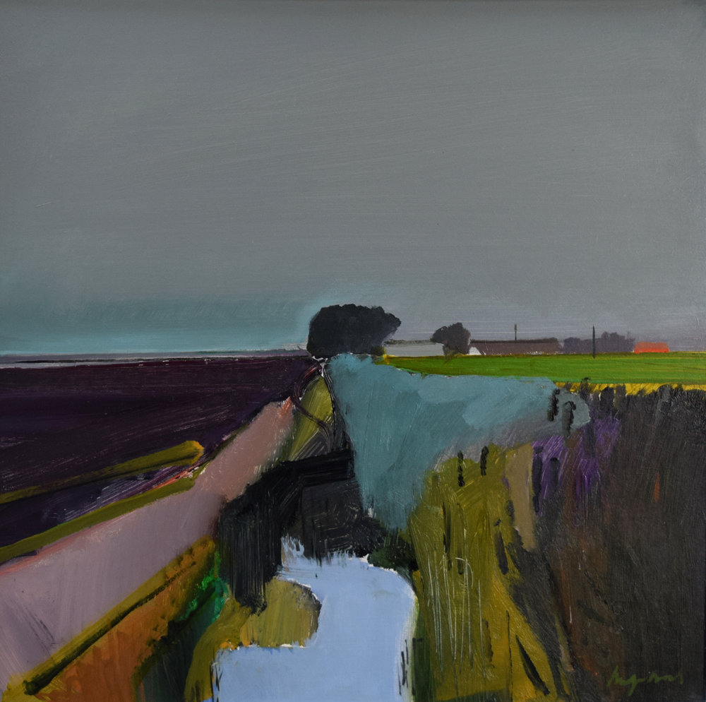 Anchor Drove Ditch II  Acrylic on board 61 x 61cms