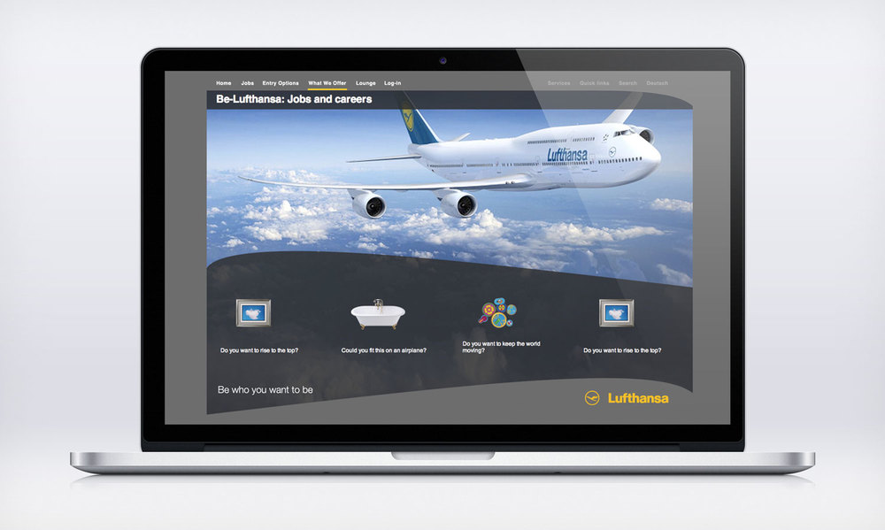 Be-Lufthansa Creative Lead & Agency Partner. Digital.