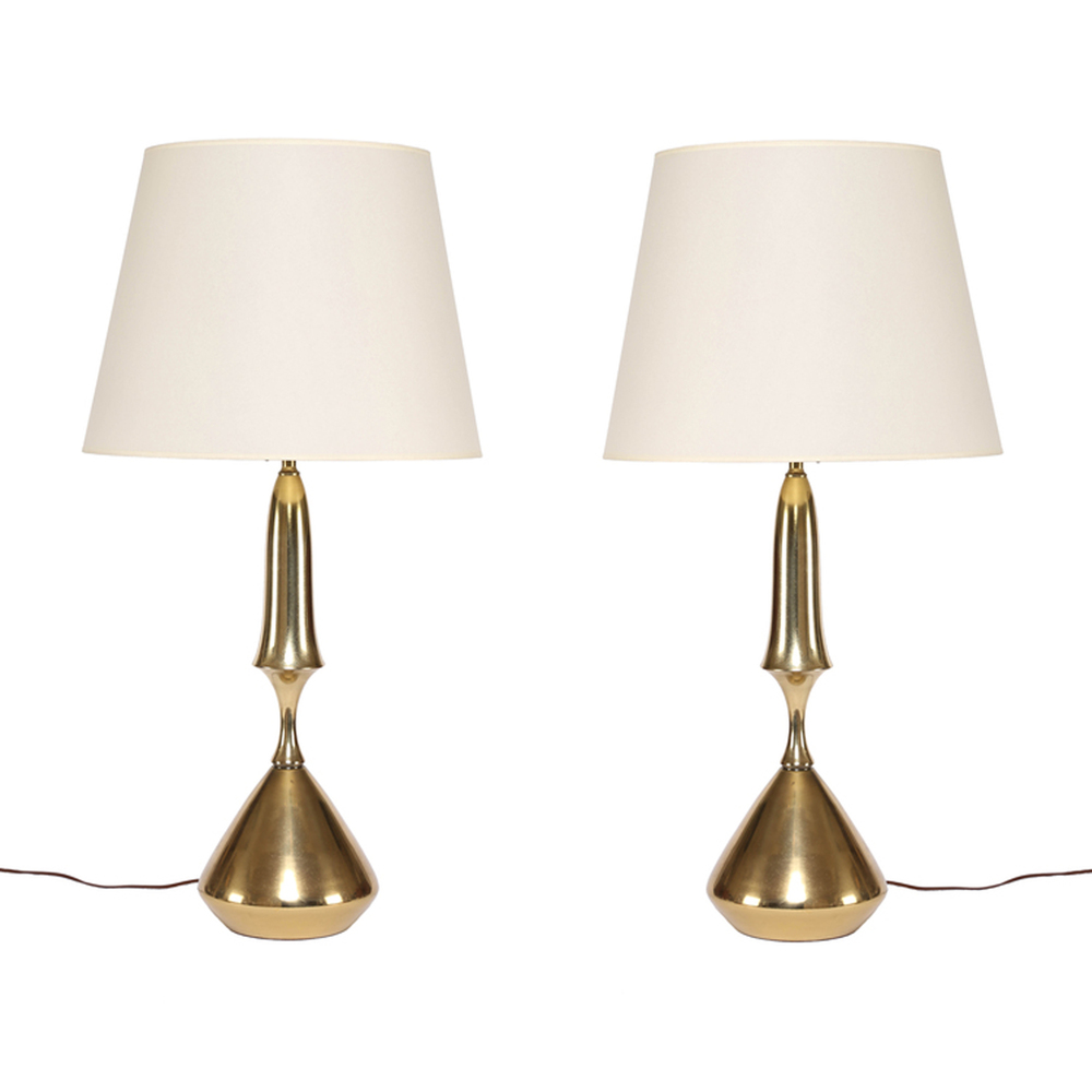 Charmant Vintage Brass Table Lamps