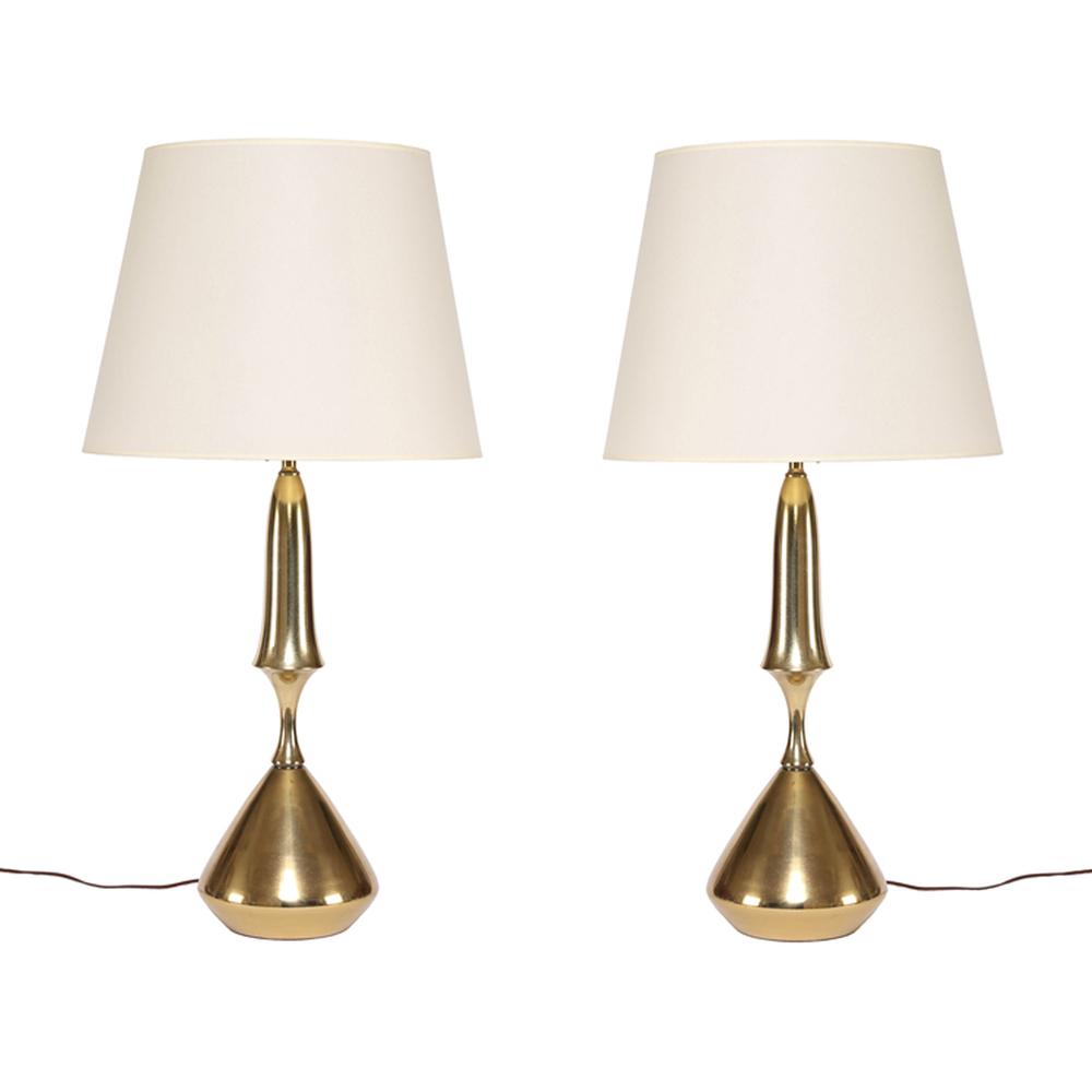 Vintage Brass Table Lamps Sedgwick Brattle