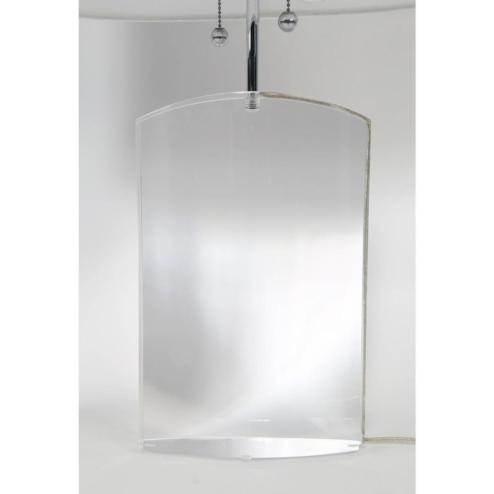 Les Prismatiques Heavy Lucite Table Lamps Sedgwick Brattle