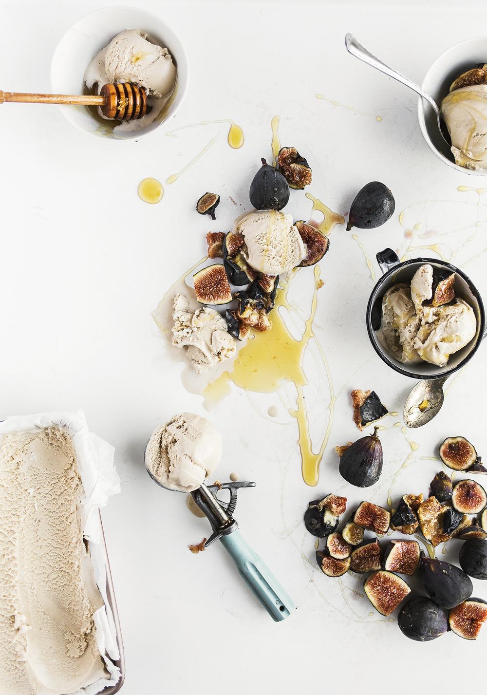 fig and vanilla ice cream