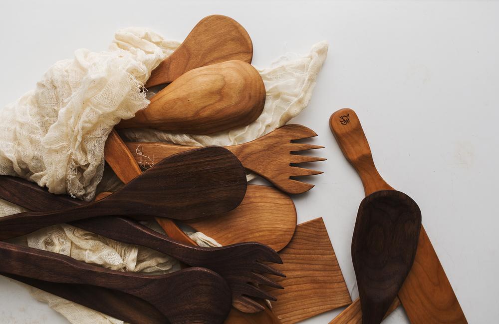 handmade wooden spoons