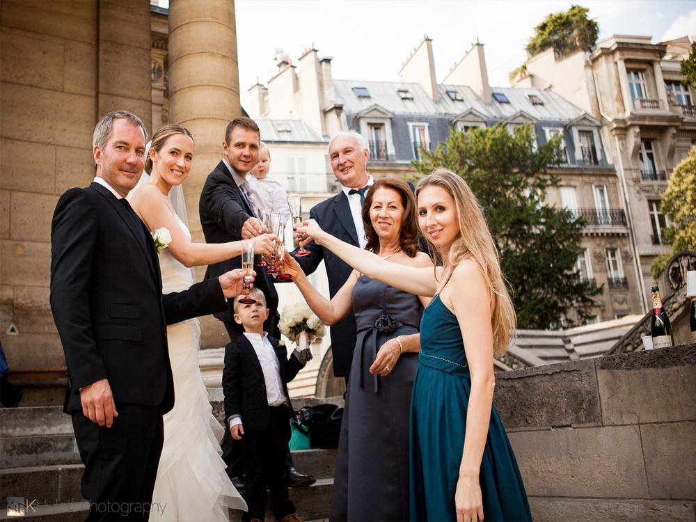 elegant intimate wedding paris