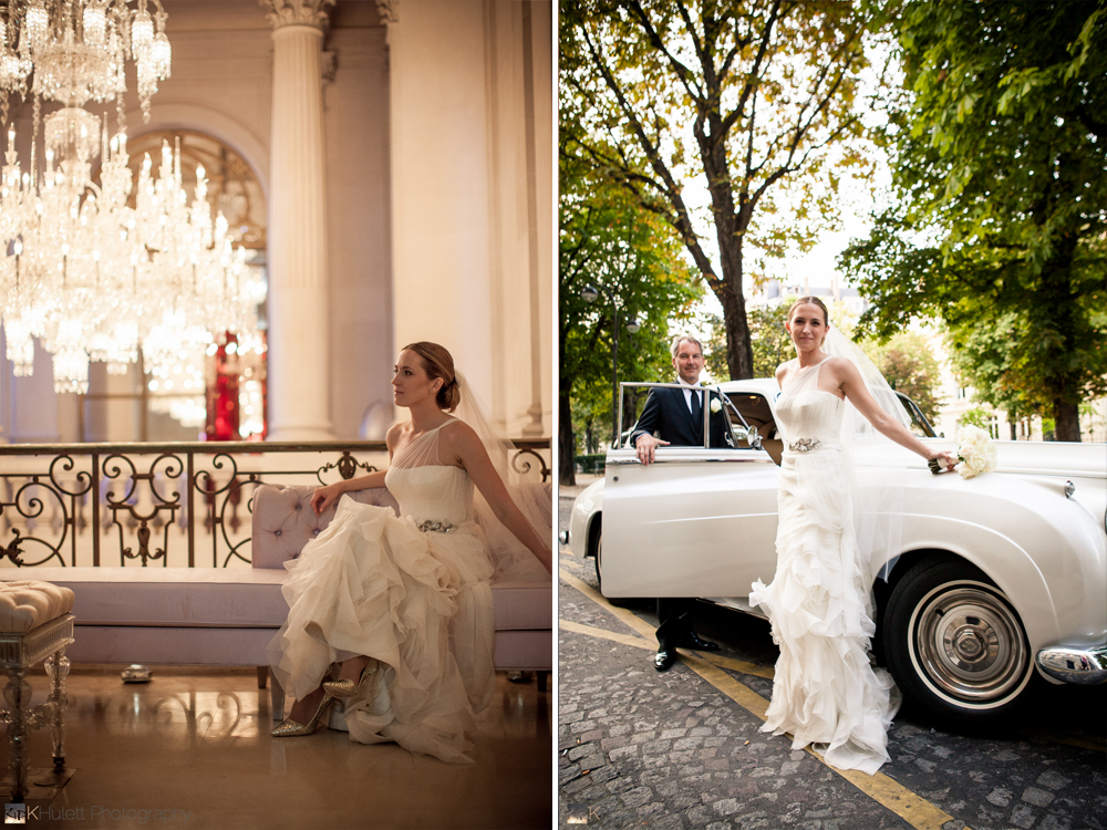 glamour parisian wedding