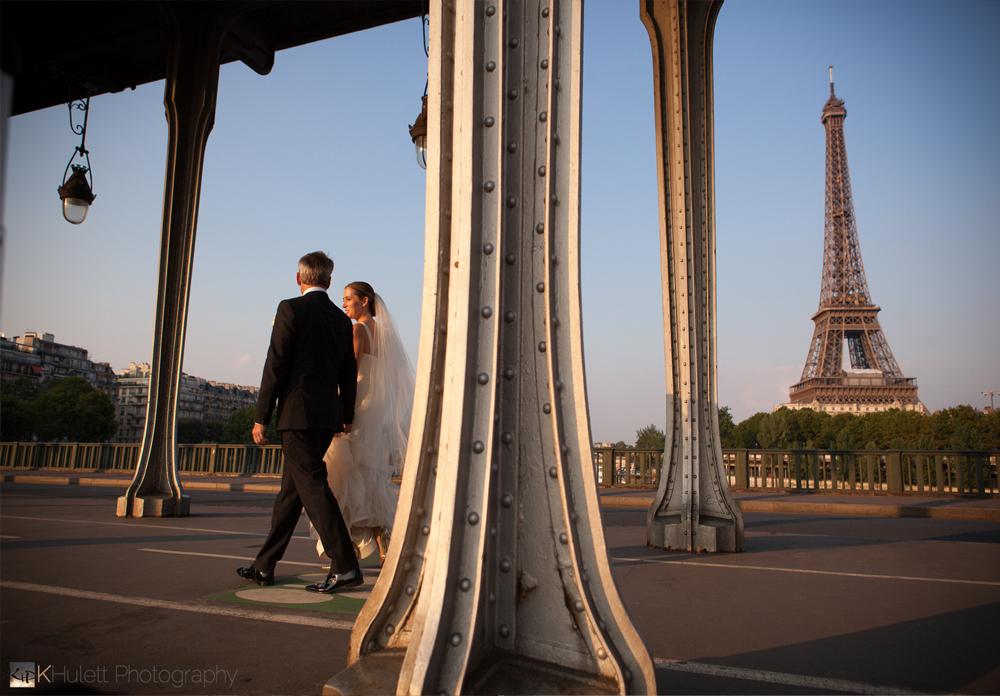 intimate wedding eiffel tower