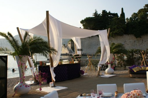 beach wedding venue cote d'azur