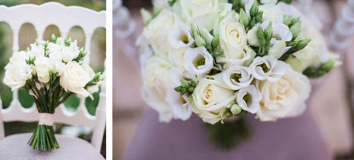 wedding bridal white bouquet