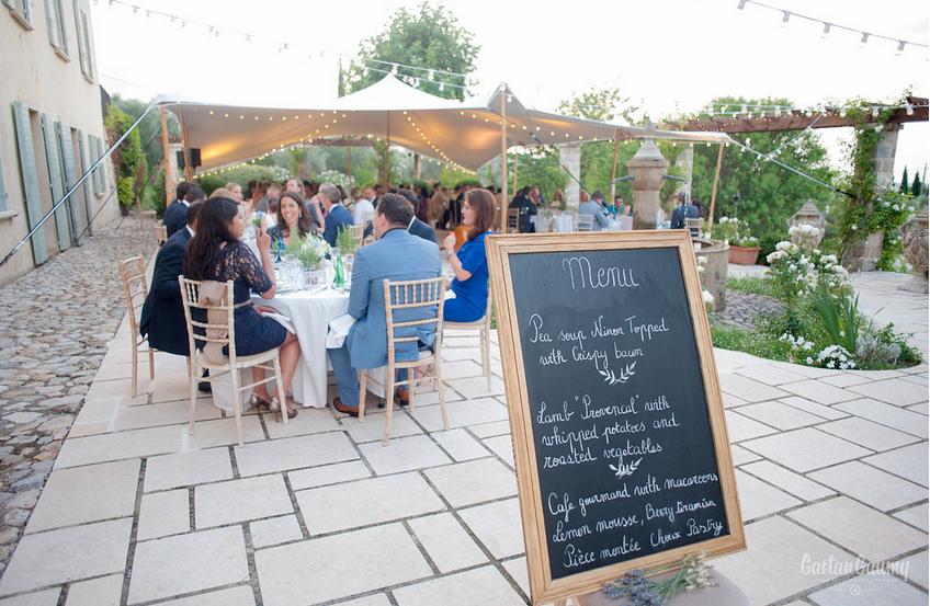 wedding dinner cote d'azur grasse