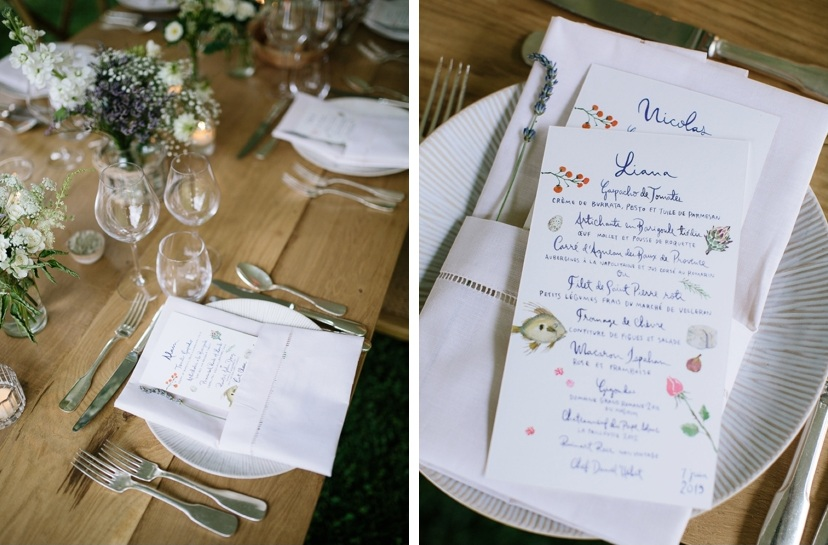 wedding provence decoration wood table