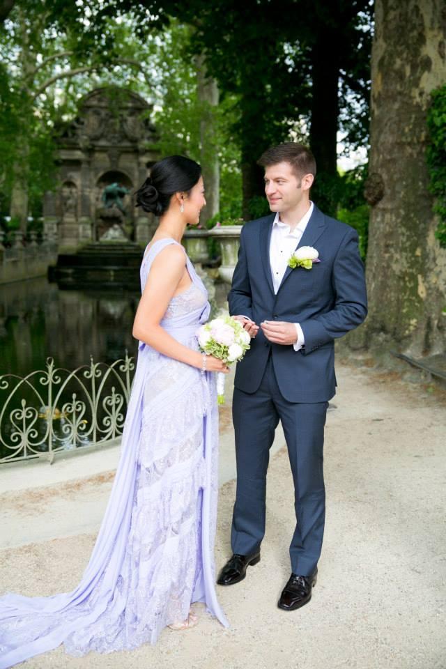 wedding dresses for france garden elopement