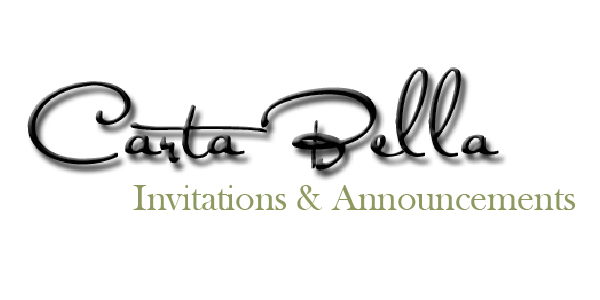 Carta Bella Invitations and Announcements offers a unique line of stationery for your event.  We specialize in custom design and printing.  So if you can't find something you like from our library, we can design it together.  Our goal is to make your invitations uniquely yours at a price you can afford-  whether it's a certain style,  paper type or simply an embellishment.  As the owner of Carta Bella, I have a passion for paper and have been designing and selling invitations for almost 20 years.  My personal touch and attention to detail will ensure your invitations meet - maybe even exceed - your expectations!