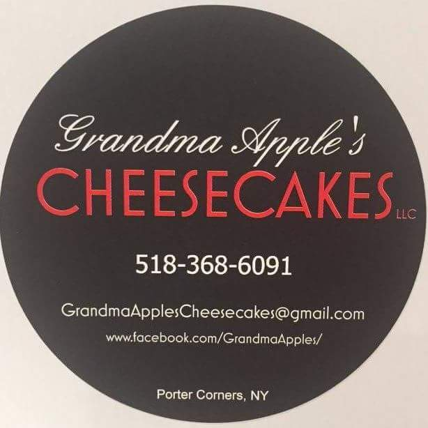 "Grandma Apple's Cheesecakes, LLC  518.368.6091  www.facebook.com/GrandmaApples   Established in 2017, after years of prompting by family and friends, Grandma Apple's Cheesecakes, LLC provides ""handcrafted cheesecakes from Grandma's kitchen to yours!"" Grandma Apple as she's lovingly known by her grandchildren has mastered a rich and creamy cheesecake recipe that can now be shared with all of you."