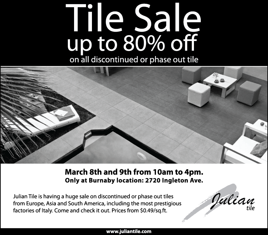 Julian Tile Sale