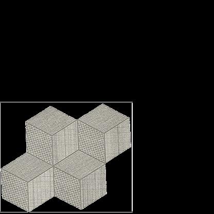 room hexagon mosaic pearl porcelain italian floor tile