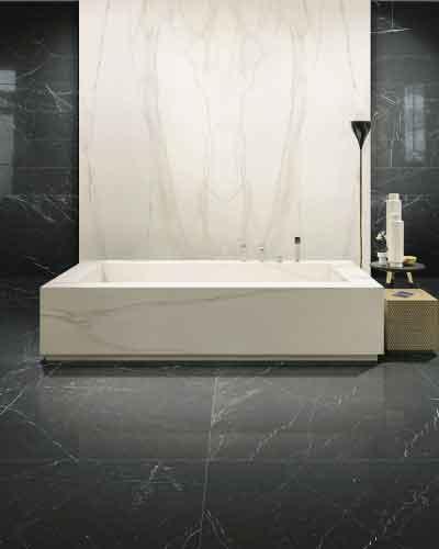 magnum porcelain slab marble look