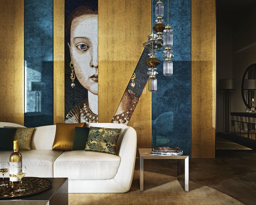 pergamino gold and antique blu