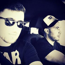 Drivers Kenny Kane and John Sabia