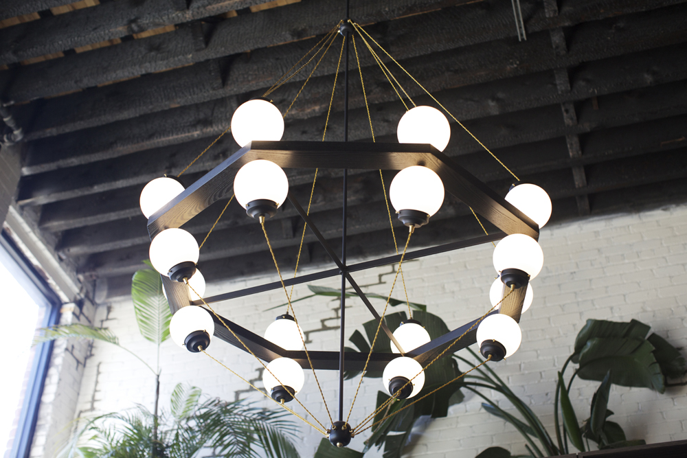 BOWER Chandelier at the Kinfolk store, 94 Wythe Ave.