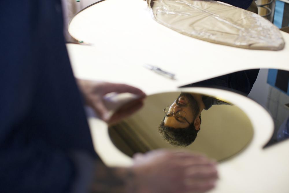 Assembling a Cylinder Mirror