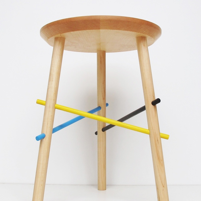 "Pick Up Stool by Bower, $425   ""Practical and simple, but I like the playful and colorful twist, nice details. It seems to be the overall philosophy of Bower approach which is creating a nice family of objects and furniture."""