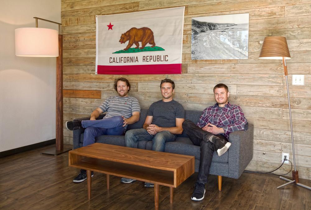 Cerno Founders  Nick Sheridan, Dan Wacholder, and Bret Englander, 2015