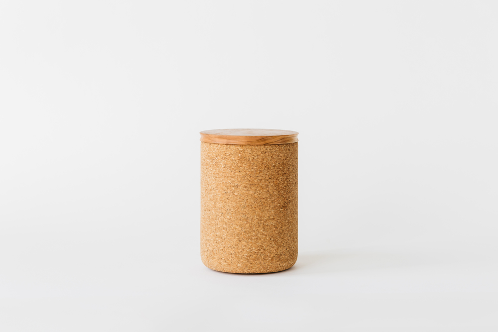 Large Cherry + Cork Canister