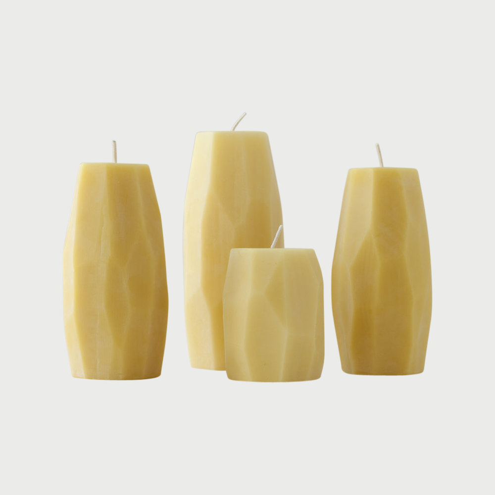 Copy of Faceted Beeswax Pillars