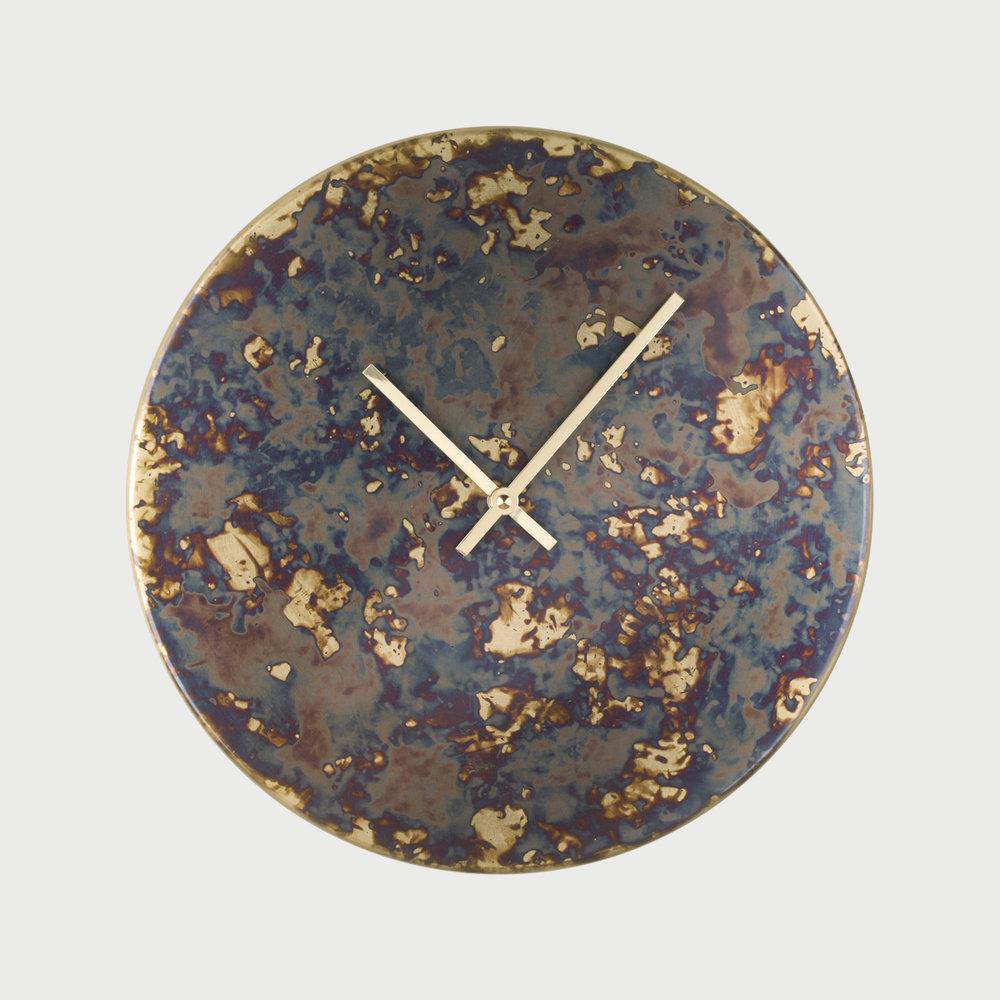 Patina Clock - Polychrome