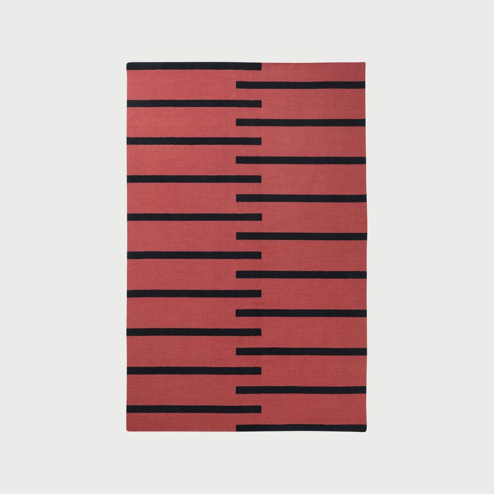 Tiger Red/Black Rug