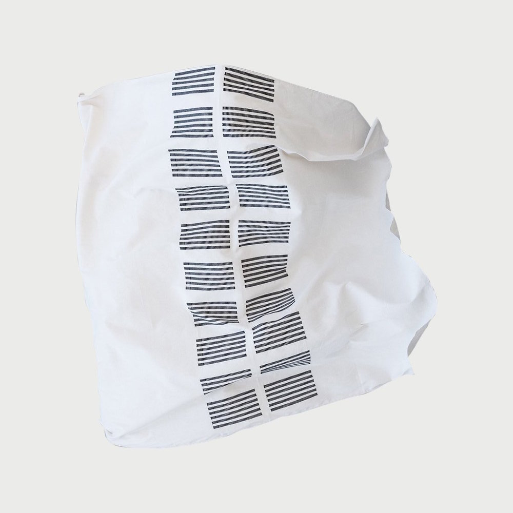 Procida Black Rectangle Blanket