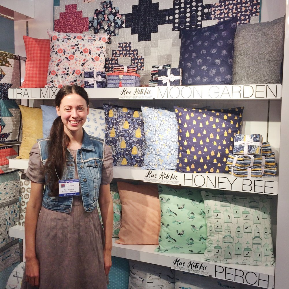 Here I am at the lovely Dear Stella booth!
