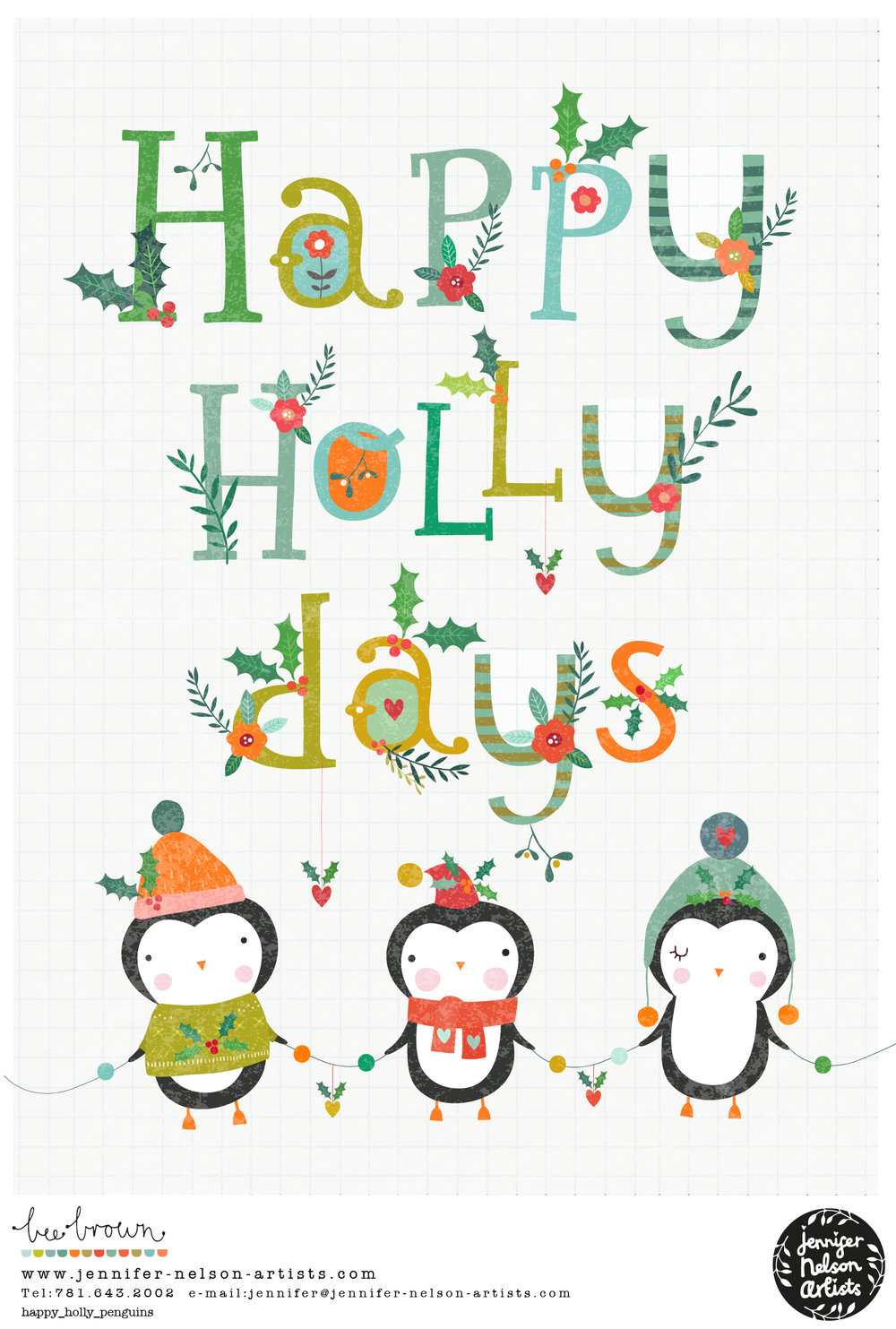 bee_brown_happy_holly_penguins