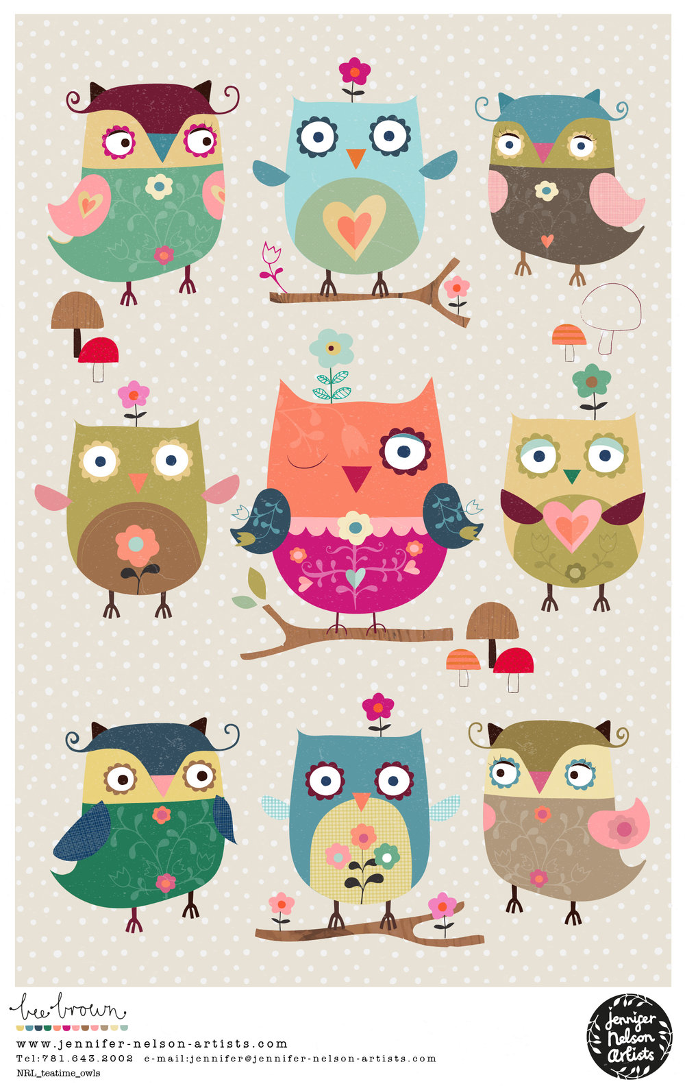bee_brown_tea_time_owls