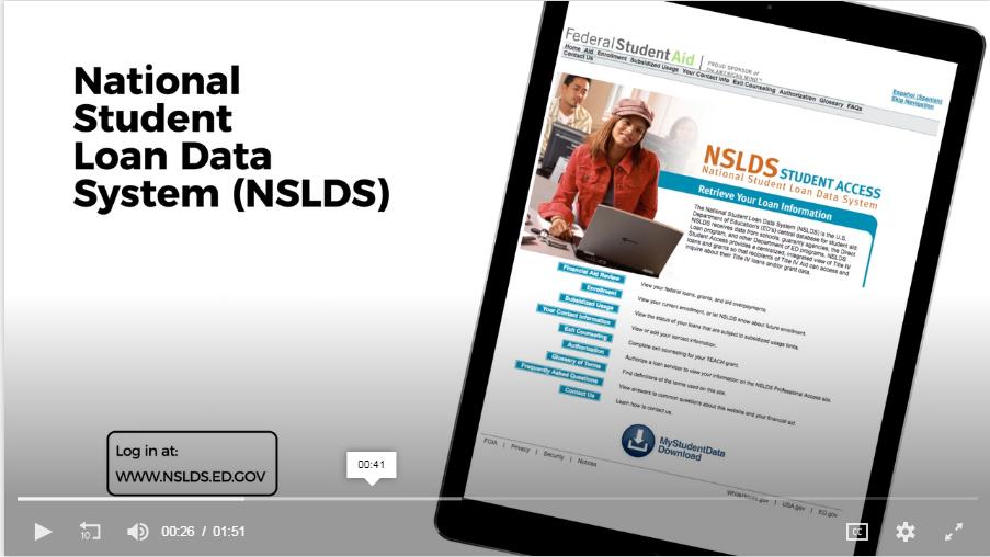 National Student Loan data System (NSLDS)