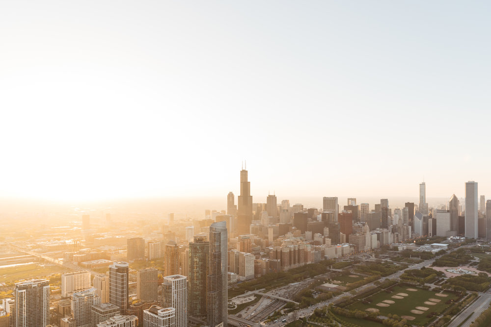 Chicago Aerials for Death to the Stock Photo -