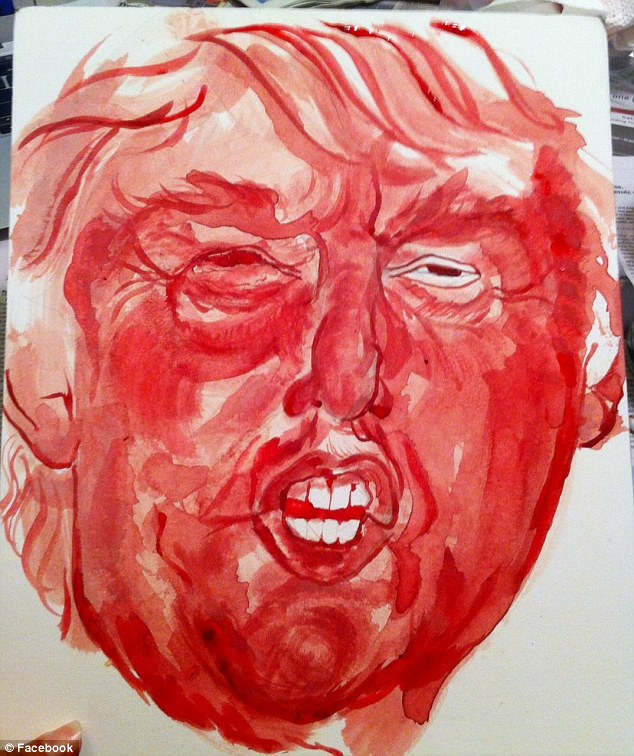 Sarah Levy's m enstrual blood Trump